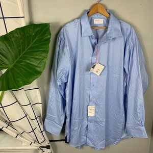 NWT Lorenzo Uomo Blue Button Down Shirt Size XL